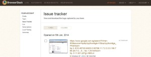 BrowserStack Issue Tracker