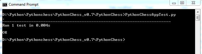 Python unit check test run