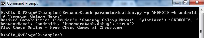 Running BrowserStack Test