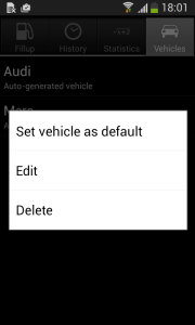 Delete in available only when there more than 2 vehicles