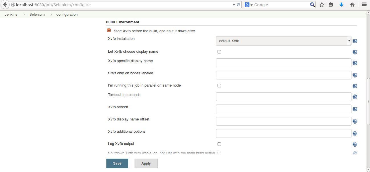 Xvfb plugin for Jenkins - Qxf2 blog