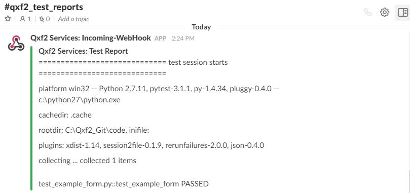 Post pytest test results on Slack - Qxf2 blog