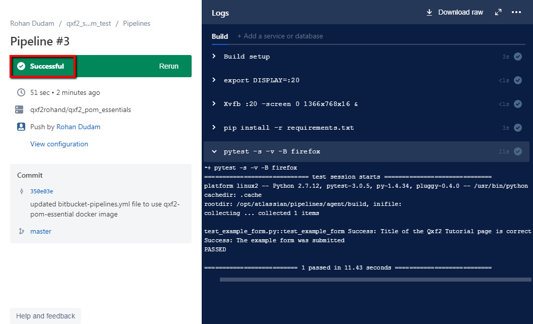 Continuous Integration using Bitbucket Pipelines and Docker - Qxf2 blog