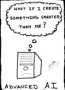 Advanced AI cartoon