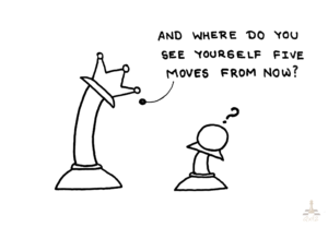 Where do you see yourself 5 moves from now?