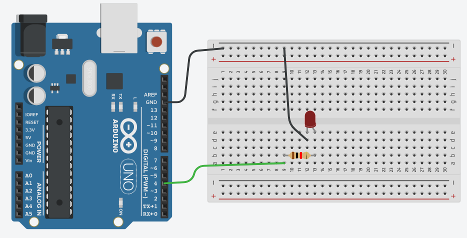 LED Connection to Arduino using Breadboard