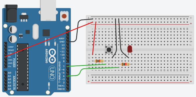 DC Door Bell Connections using Breadboard