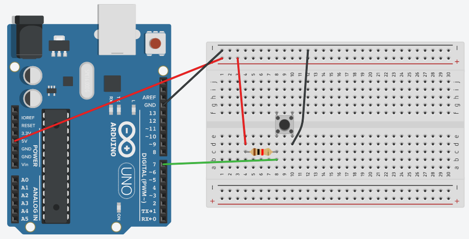 Connect Switch to Arduino using Bread Board