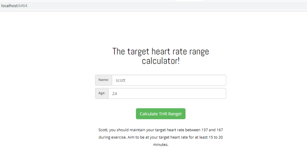 Sample lambda heart rate application