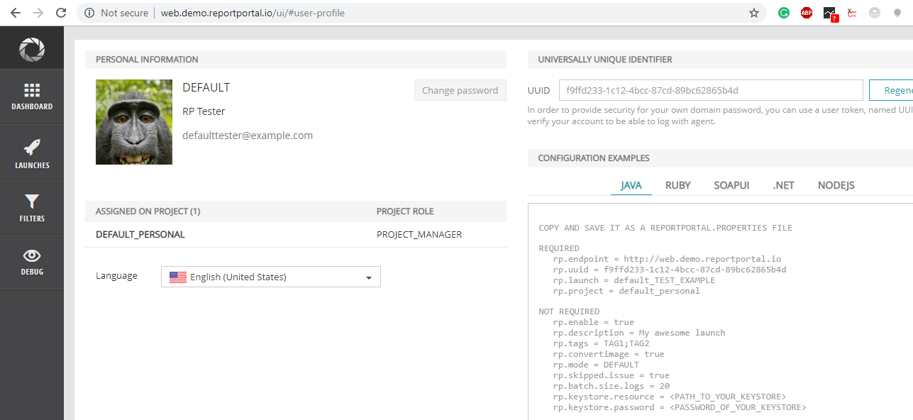 ReportPortal integration with pytest and pytest markers
