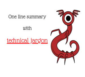 one line summary with technical jargon