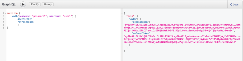GraphiQL JWT authenticate